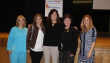 (l-r) Pam George, Director of Emergency Services, Sharon Hospital; Jeanne Rebillard, owner Rebillard Public Relations & Harlem Valley Coalition Coordinator; NY State Senator Sue Serino; Elaine Trumpetto, Executive Director, Council on Addiction, Prevention & Education CAPEDC; Lori Puff, Chief Nursing Officer, Sharon, Hospital.